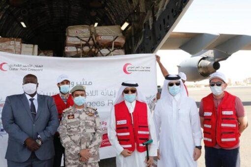 وصول طائرات إغاثية للهلال الاحمر القطري للسودان