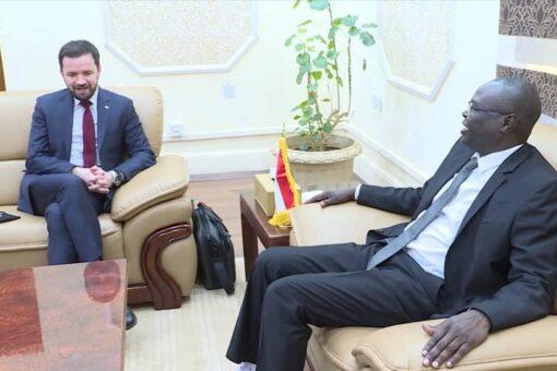 د.صديق تاور يبحث مع مستشار رئيس الوزراء البولندي العلاقات الثنائية