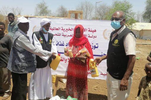 مواد اغاثية من هيئة الاعمال الخيرية للاجئين الاثيوبيين