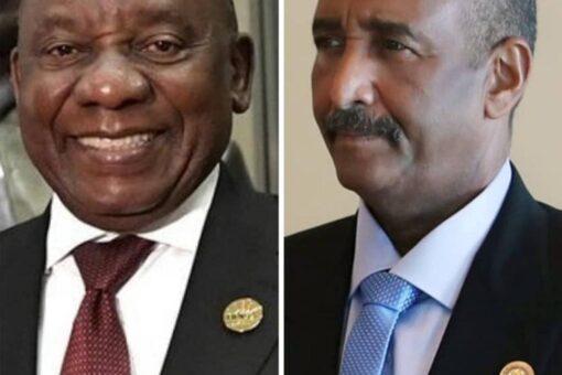 رئيس مجلس السيادة يهنئ رئيس جنوب أفريقيا بذكرى يوم الحرية