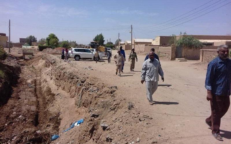 الدفاع المدني والطوارئ بنهر النيل يتفقد المصارف استعدادا للخريف