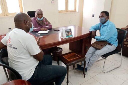 بحث انشطة منظمة أطباء بلا حدود الصحية بولاية القضارف