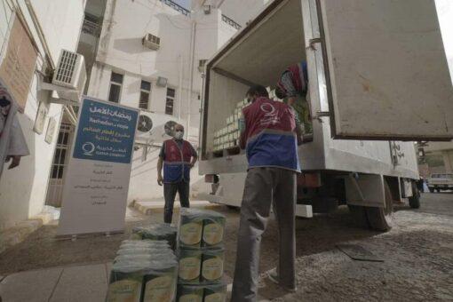 قطر الخيرية تدعم الكوادر الطبيةوالعاملين بمستشفى الأورام ومركز عزل كورونا
