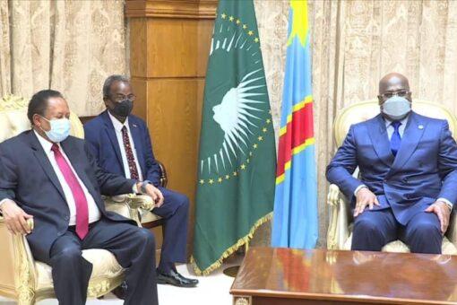 حمدوك يطلع رئيس الاتحادالأفريقي على موقف السودان بشأن سد النهضة