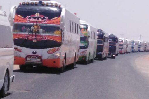بدء عمليات تفويج المركبات بقطاع النيل الابيض