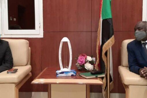جبريل يبحث مع سفير اثيوبيا التعاون التجاري
