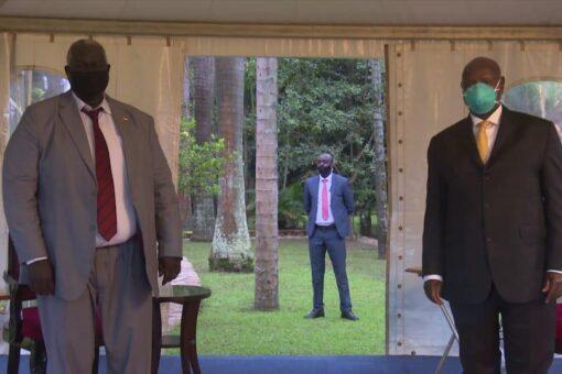 الرئيس اليوغندي يستقبل عضو مجلس السيادة مالك عقار