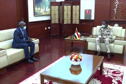 النائب الأول لرئيس مجلس السيادة يلتقي وزير الدفاع النيجري