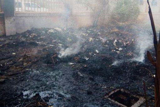 السيطرة على حريق محدود خارج مباني العيادات المحولة بمستشفى مدني