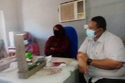 مدير الصحة بالجزيرة يتفقد مراكز صحية في مدني