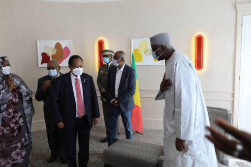 د.حمدوك يلتقي رئيس جمهورية مالي بباريس