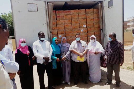 توزيع الغذاء العلاجي الجاهز لسوء التغذية الحاد لمحليتي المناقل والقرشي
