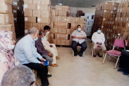 مجلس مدير الصحة بالجزيرة يقف على الاداء بإدارة العلاج المجاني