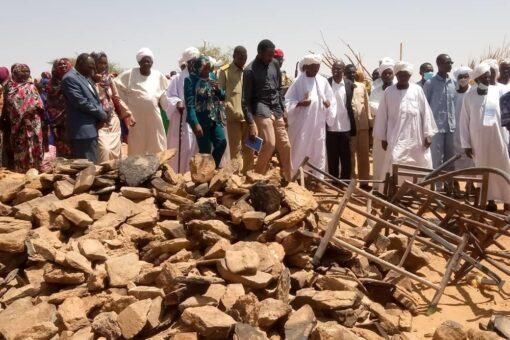 حكومة شمال دارفور تقف على خسائر وأضرار حريق خير بان