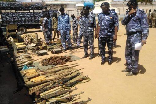ضبط كميات من الأسلحة والذخائر بمدينة كادقلي