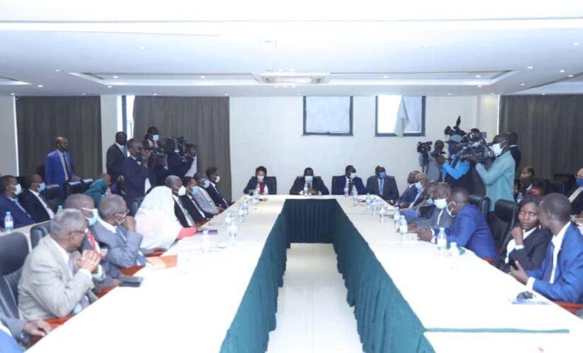 وفد الحكومة يرد على مسودة الاتفاق الاطارئ في جوبا