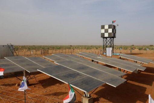 تركيب محطات المياه تعمل بالطاقة الشمسية بغرب دارفور