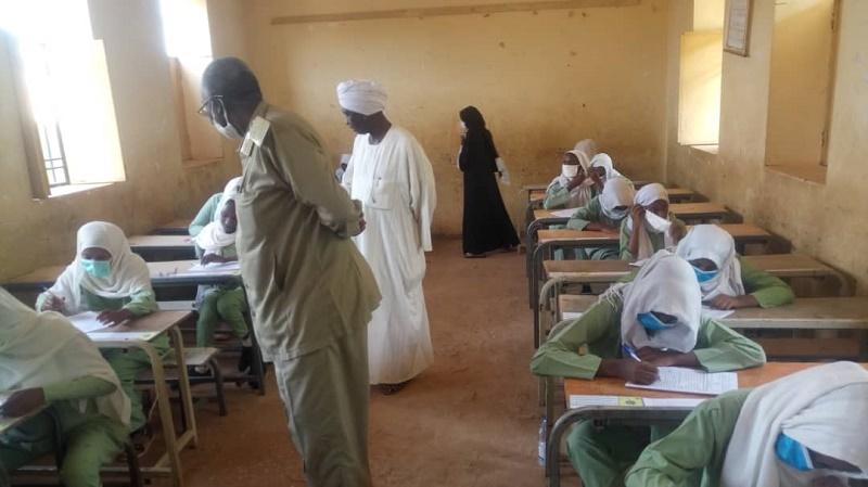 استقرار في مراكز امتحانات الأساس بالنيل الأزرق