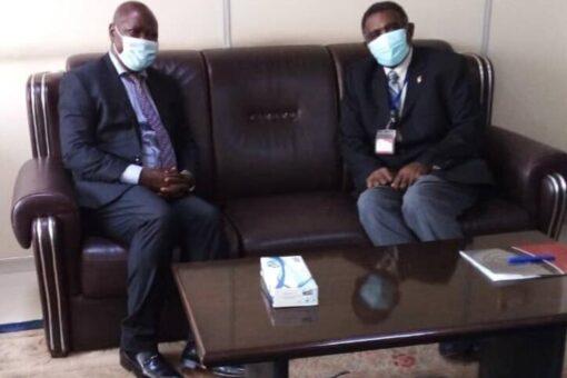 السفير حسن عبدالسلام يحث مع السفيراليوغندي سبل تنشيط العلاقات الثنائية