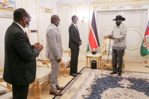 سلفاكير يستقبل وفد الحكومة الانتقالية لمفاوضات جوبا