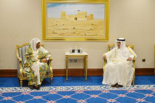 وزيـرة الخارجية تلتقي وزير الدولة لشؤون مجلس الوزراء الكويـتي