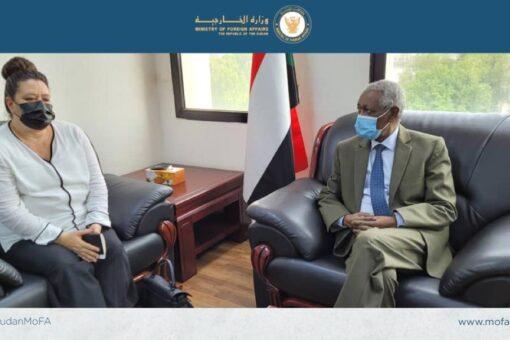 وكيل الخارجية وسفيرةفرنسا يبحثان انطلاق الحوار الإستراتيجي بين الخرطوم وباريس