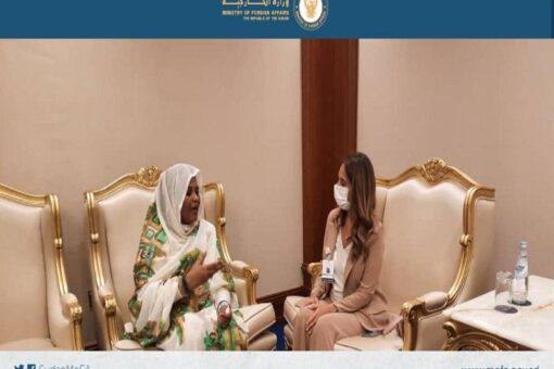وزيرة الخارجية ونظيرتها اللبنانية تبحثان بالدوحة قضية المواطنين السودانيين بلبنان