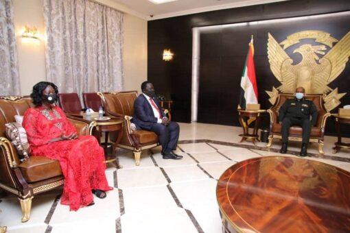 رئيس مجلس السيادة يلتقي نائب رئيس جمهورية جنوب السودان