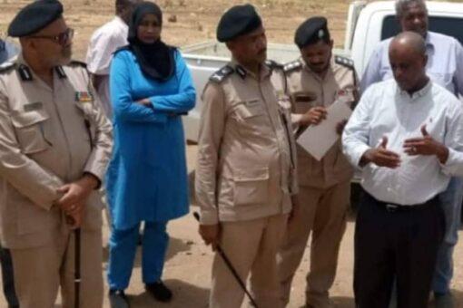 مدير الدفاع المدني ولاية الخرطوم يتفقد مناطق الهشاشة بالريف الشمالي