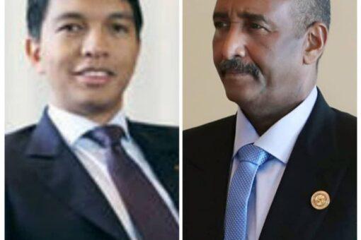 رئيس مجلس السيادة يبعث ببرقية تهنئة لرئيس مدغشقر