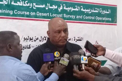 دورة تدريبية في مجال مسح مكافحة الجراد الصحراوي بجنوب كردفان