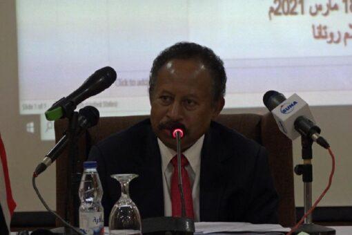 حمدوك يستقبل وفد سفارة جنوب السودان