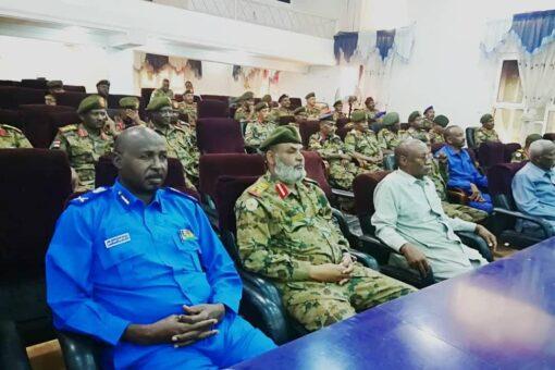 والي الجزيرة يستقبل وفد أكاديمية نميري العسكرية العليا