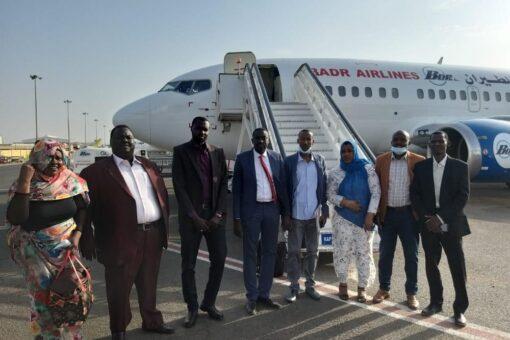 وفد اللجنة الإشرافية لمؤتمر نظام الحكم يصل غرب دارفور