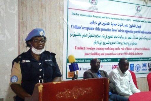 اختتام فعاليات الورشة التدريبية لحماية المدنيين بدارفور