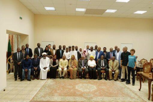 وزيرة الخارجية تلتقي أعضاء الجالية السودانية بروسيا