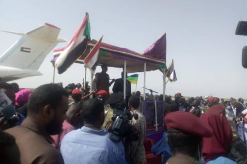 والي غرب دارفور يصل مدينة الجنينة