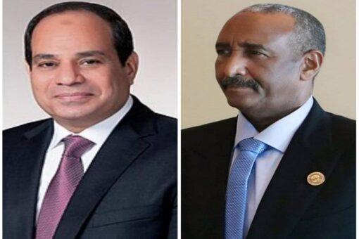 البرهان يتلقى إتصالا هاتفيا من الرئيس المصري