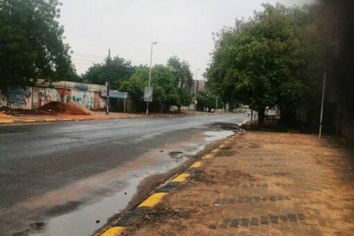 جو ممطر غائم يسود سماء الخرطوم صباح اليوم
