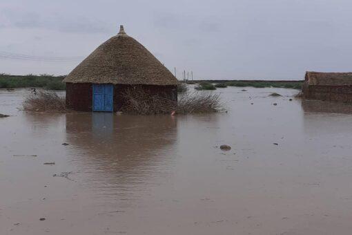 مياه الأمطار تغمر أجزاء واسعة من الفاو