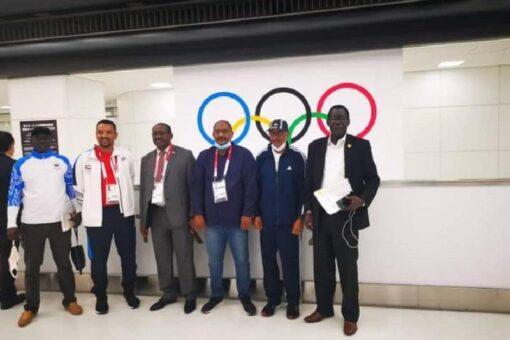 وزير الرياضة يلتقي نظيريه الجنوب سوداني والسعودي بطوكيو