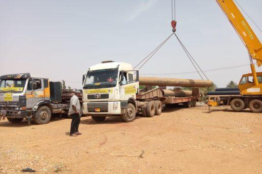 الطرق والجسور بولاية الخرطوم: تدعيم وترفيع التروس النيلية بجبل اولياء
