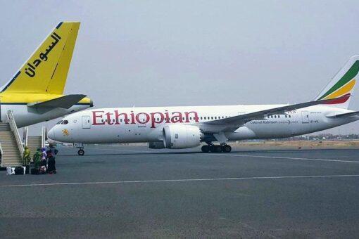 12 طائرة اثيوبية تهبط اضطراريا في مطار الخرطوم