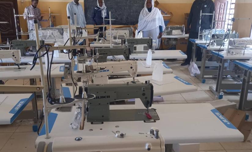 تدشين ماكينات لتصنيع الكمامات لمدارس الاساس بالنيل الأبيض