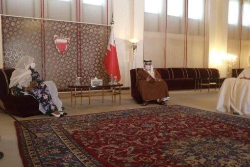 مريم الصادق تلتقي ولي عهد البحرين