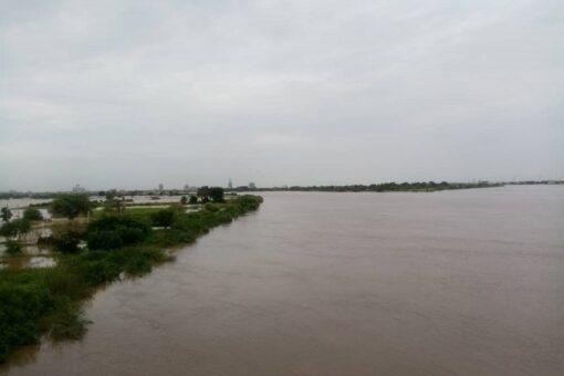 ارتفاع منسوب نهر النيل الرئيسي والعطبرواي بمحطة عطبرة