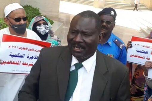 ملاك العقارات ينظمون وقفة إحتجاجية أمام وزارة العدل
