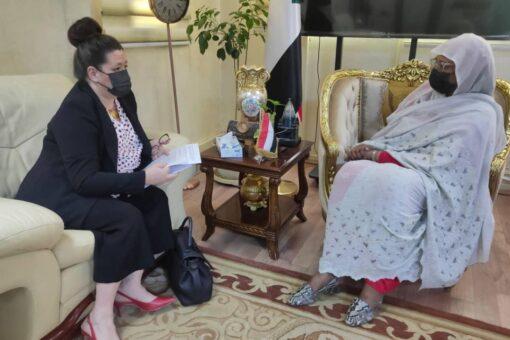 وزيرة الخارجية تودع سفيرة جمهورية فرنسا