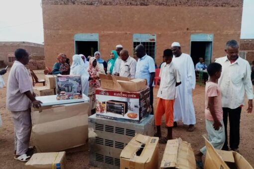 ديوان الزكاة بالجزيرة يحتفل بتوزيع معدات لمراكز تنمية المرأة