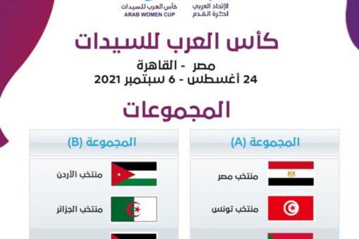 قرعة كأس العرب تضع منتخب السيدات مع مصروتونس ولبنان
